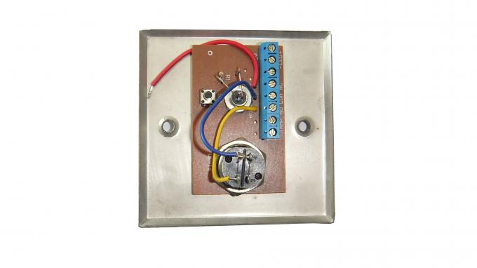 Door Release Push Button Doorbell on Stainless Steel Panel with Key