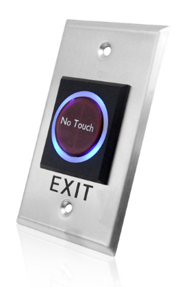 Door Push Button Exit Switch Stainless Steel Metal Infrared Induction Exit Button