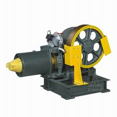 Good Quality VVVF Drive Geared Elevator Traction Machine , 1.6m/s 3700kg Static Capacity YJ160 Sales