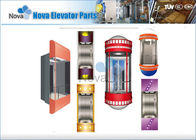 China Panoramic Passenger Elevator Cabins , 800kg ~ 1000kg Sightseeing Lift Cabin Suppliers