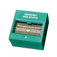 Green Emergency Door Release Break Glass Access Control CE Certification