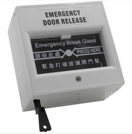 Grey Emergency Exit Button Emergency Door Release Break Glass Unit For Fire Alarm