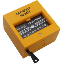 Yellow Emergency Door Release Switch Plastic Emergency Break Glass Unit